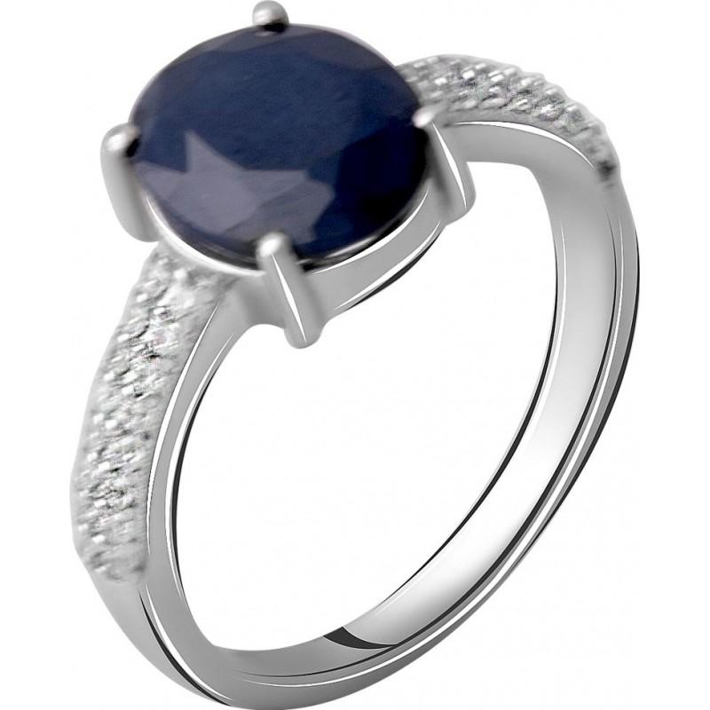Серебряное кольцо SilverBreeze с натуральным сапфиром 3.552ct (2063261) 17.5 размер