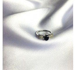 Серебряное кольцо SilverBreeze с натуральным сапфиром 1.615ct (2063148) 17.5 размер