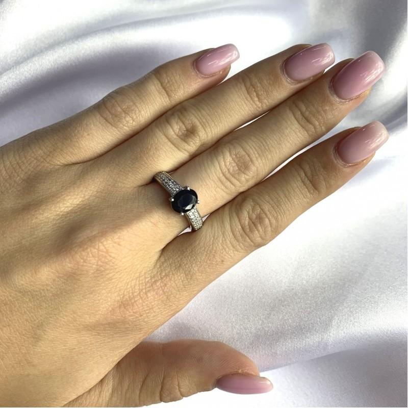 Серебряное кольцо SilverBreeze с натуральным сапфиром 2.143ct (2063100) 17 размер