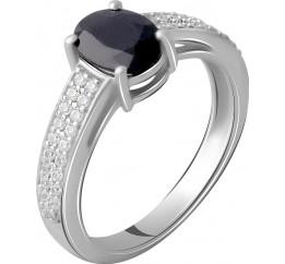 Серебряное кольцо SilverBreeze с натуральным сапфиром 2.143ct (2063100) 17.5 размер