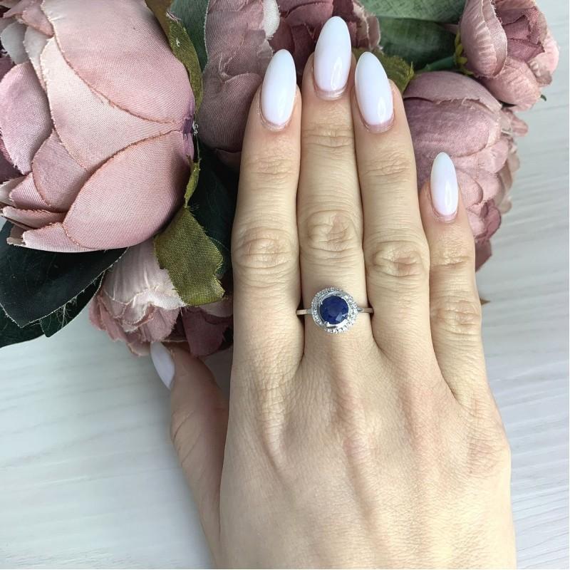 Серебряное кольцо SilverBreeze с натуральным сапфиром 1.878ct (2063087) 17.5 размер