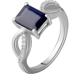 Серебряное кольцо SilverBreeze с натуральным сапфиром 1.964ct (2063049) 18 размер