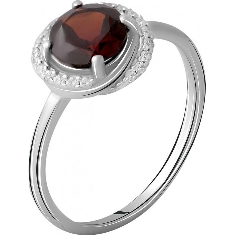 Серебряное кольцо SilverBreeze с натуральным гранатом 1.683ct (2062820) 17 размер