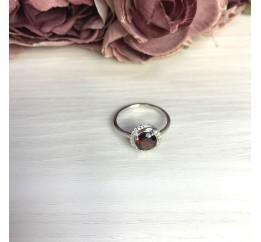Серебряное кольцо SilverBreeze с натуральным гранатом 1.683ct (2062820) 18 размер