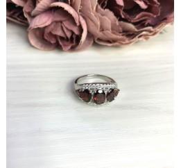 Серебряное кольцо SilverBreeze с натуральным гранатом 4.5ct (2062783) 17.5 размер