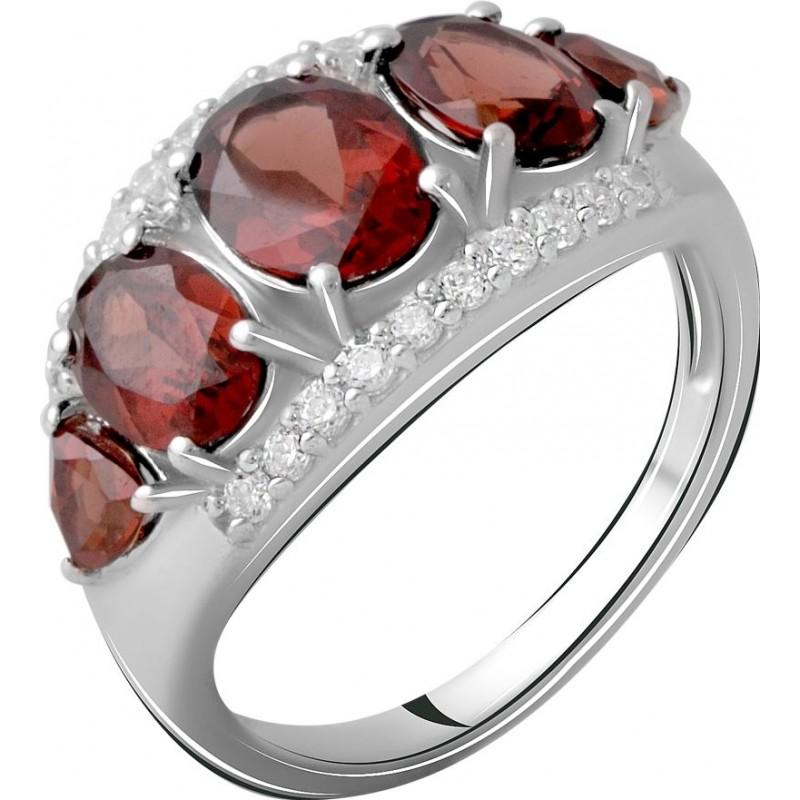 Серебряное кольцо SilverBreeze с натуральным гранатом 4.5ct (2062783) 18.5 размер