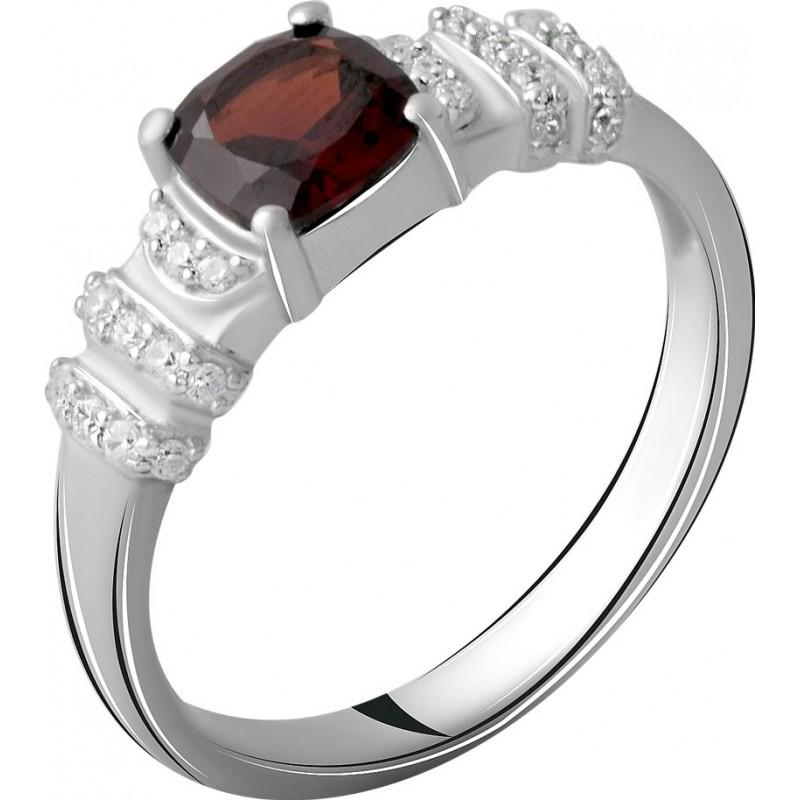 Серебряное кольцо SilverBreeze с натуральным гранатом 1.474ct (2062769) 17.5 размер