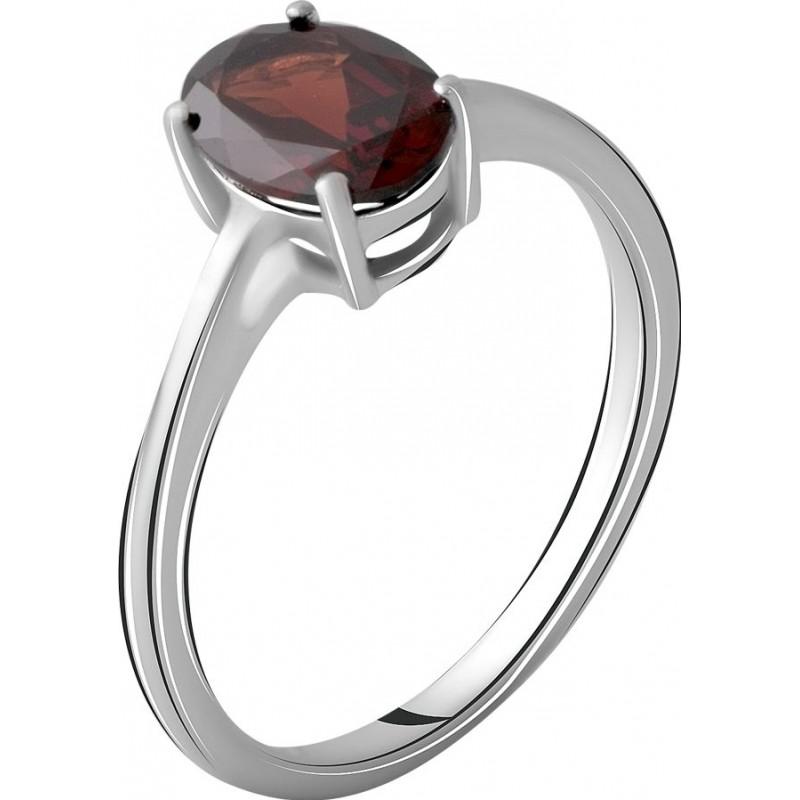 Серебряное кольцо SilverBreeze с натуральным гранатом 1.425ct (2062745) 17 размер