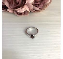Серебряное кольцо SilverBreeze с натуральным гранатом 1.893ct (2062707) 17.5 размер