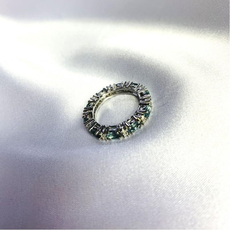Серебряное кольцо SilverBreeze с натуральным топазом Лондон Блю 2.36ct (2062523) 17.5 размер