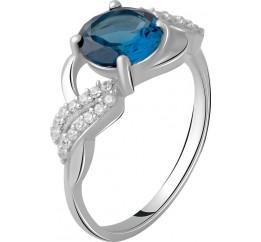Серебряное кольцо SilverBreeze с натуральным топазом Лондон Блю 1.708ct (2062387) 17.5 размер