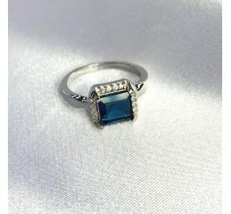 Серебряное кольцо SilverBreeze с натуральным топазом Лондон Блю 1.603ct (2062264) 18 размер