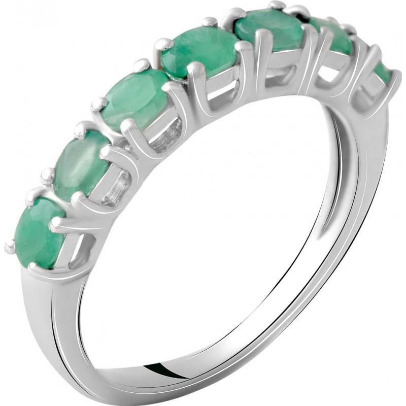 Серебряное кольцо SilverBreeze с натуральным изумрудом 0.925ct (2062202) 17.5 размер