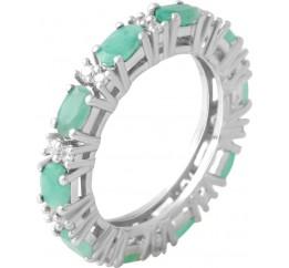 Серебряное кольцо SilverBreeze с натуральным изумрудом 3.093ct (2062141) 18 размер