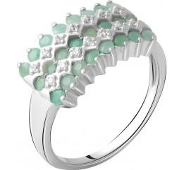 Серебряное кольцо SilverBreeze с натуральным изумрудом 3.355ct (2062066) 18.5 размер