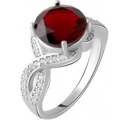 Серебряное кольцо SilverBreeze с натуральным гранатом 3.448ct (2061632) 17 размер