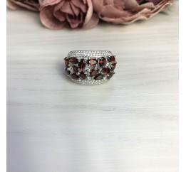Серебряное кольцо SilverBreeze с натуральным гранатом 4.663ct (2061618) 18 размер