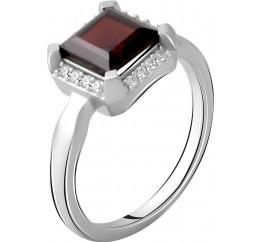 Серебряное кольцо SilverBreeze с натуральным гранатом 1.953ct (2061557) 17.5 размер