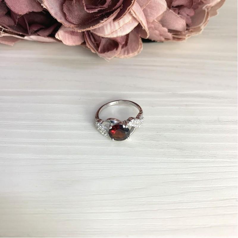 Серебряное кольцо SilverBreeze с натуральным гранатом 2.296ct (2061533) 16.5 размер