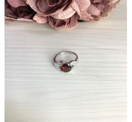 Серебряное кольцо SilverBreeze с натуральным гранатом 2.296ct (2061533) 17 размер