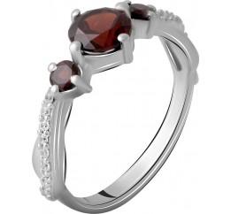 Серебряное кольцо SilverBreeze с натуральным гранатом 1.47ct (2061519) 17 размер