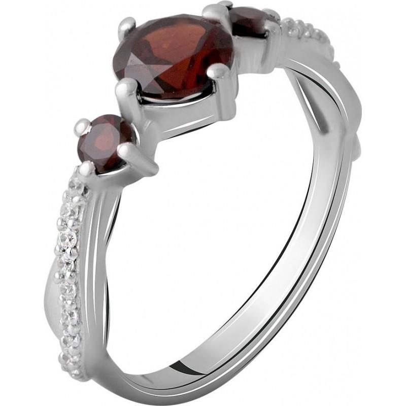Серебряное кольцо SilverBreeze с натуральным гранатом 1.47ct (2061519) 18 размер