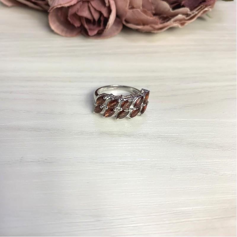 Серебряное кольцо SilverBreeze с натуральным гранатом 2.825ct (2061458) 18 размер