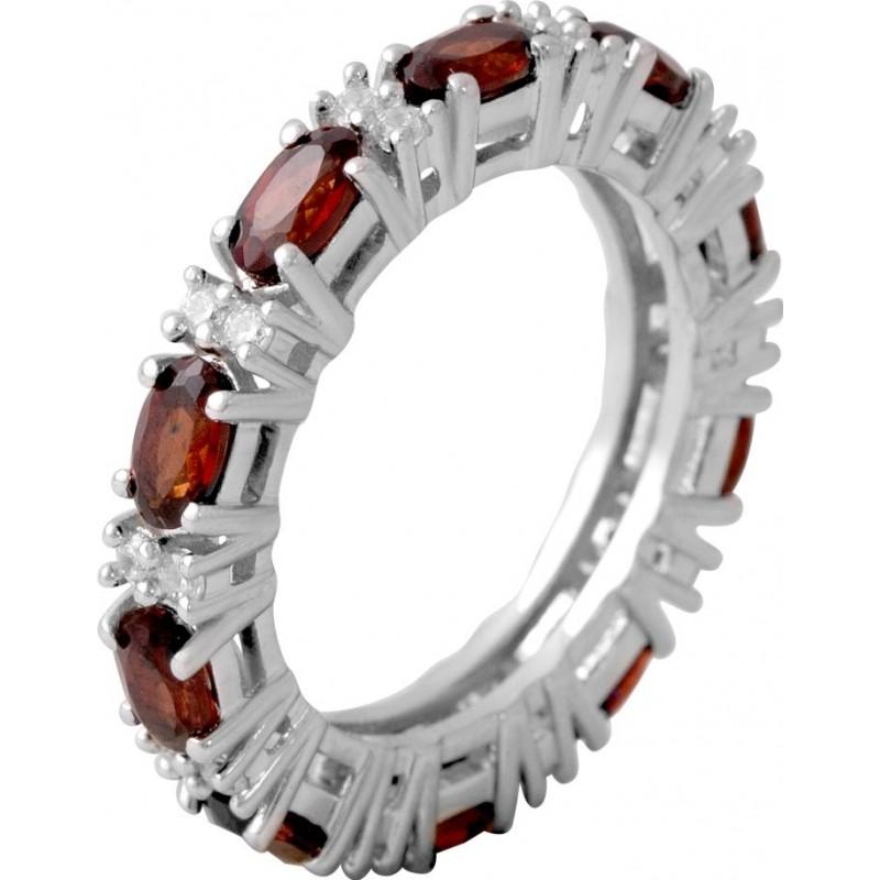 Серебряное кольцо SilverBreeze с натуральным гранатом 1.55ct (2061434) 17.5 размер