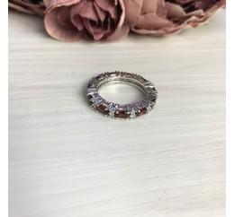 Серебряное кольцо SilverBreeze с натуральным гранатом 1.55ct (2061434) 18 размер