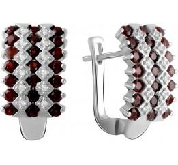 Серебряные серьги SilverBreeze с натуральным гранатом 2.047ct (2061403)