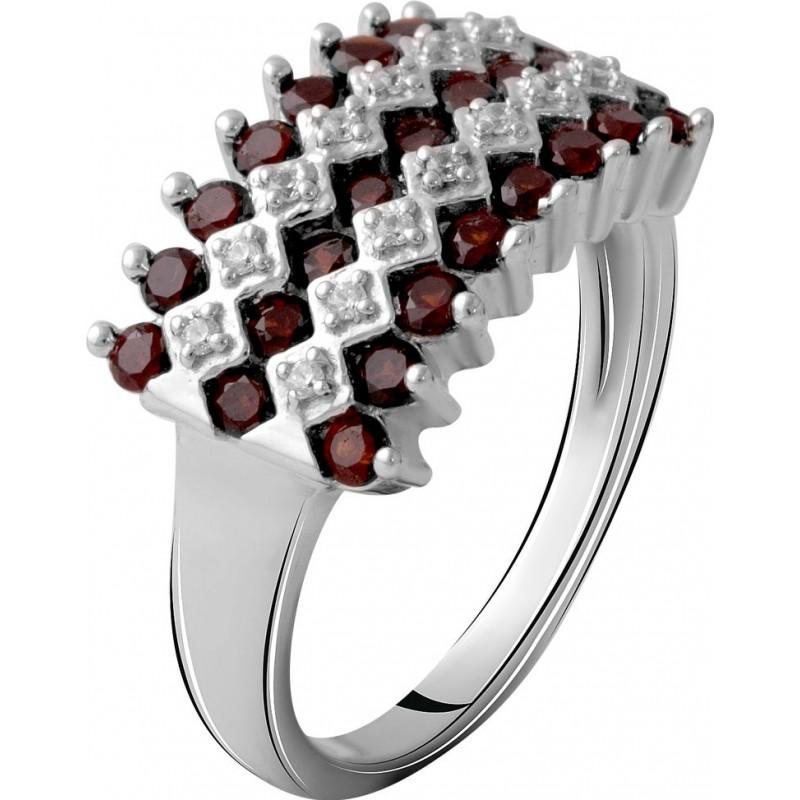 Серебряное кольцо SilverBreeze с натуральным гранатом 1.306ct (2061397) 18.5 размер