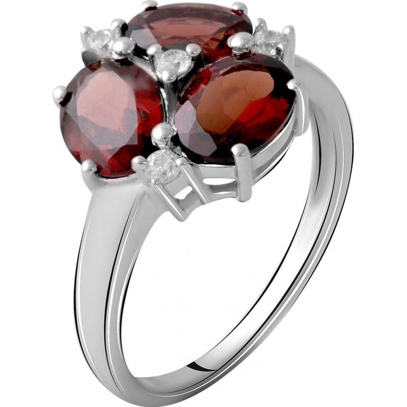 Серебряное кольцо SilverBreeze с натуральным гранатом 3.995ct (2061373) 17 размер
