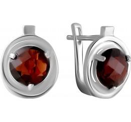 Серебряные серьги SilverBreeze с натуральным гранатом 4.713ct (2061366)