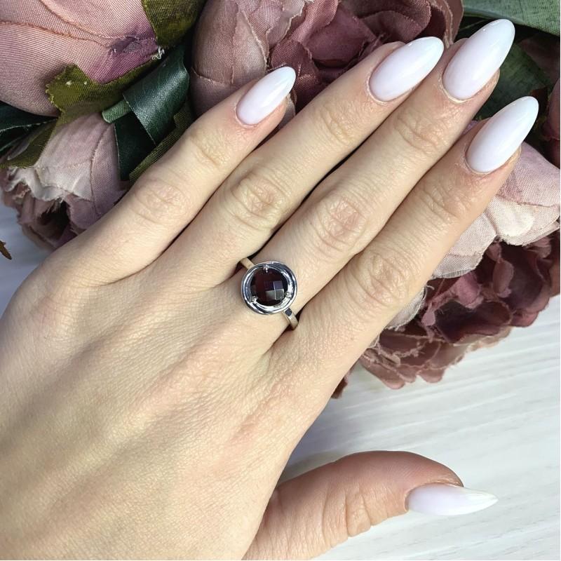 Серебряное кольцо SilverBreeze с натуральным гранатом 2.025ct (2061359) 17.5 размер