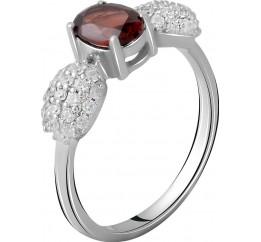 Серебряное кольцо SilverBreeze с натуральным гранатом 1.565ct (2061335) 17 размер