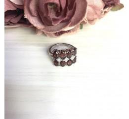 Серебряное кольцо SilverBreeze с натуральным гранатом 5.097ct (2061311) 17.5 размер