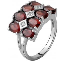 Серебряное кольцо SilverBreeze с натуральным гранатом 5.097ct (2061311) 18.5 размер