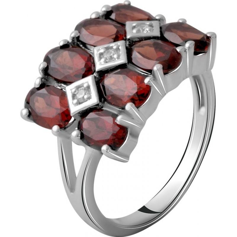 Серебряное кольцо SilverBreeze с натуральным гранатом 5.097ct (2061311) 18 размер