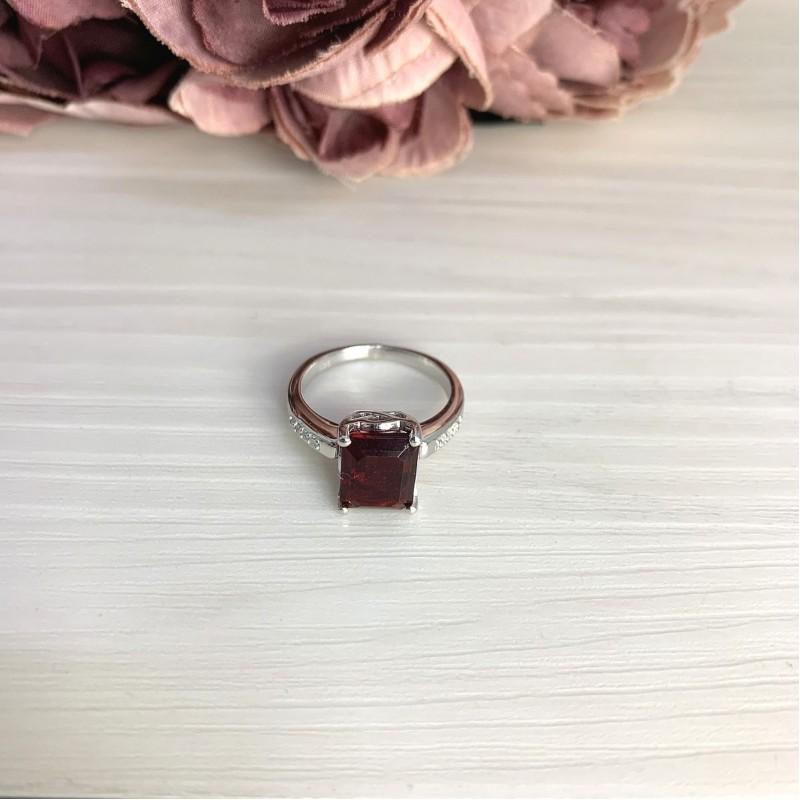Серебряное кольцо SilverBreeze с натуральным гранатом 3.508ct (2061304) 17 размер