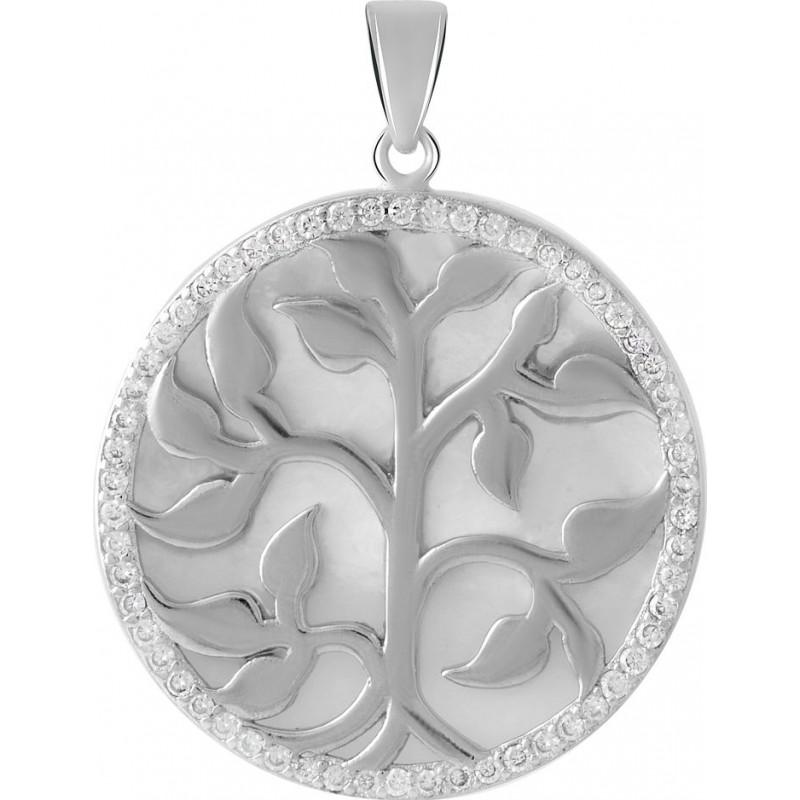 Серебряная подвеска SilverBreeze с емаллю, фианитами (2061250)