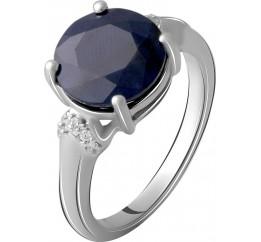 Серебряное кольцо SilverBreeze с натуральным сапфиром 4.748ct (2061083) 17 размер