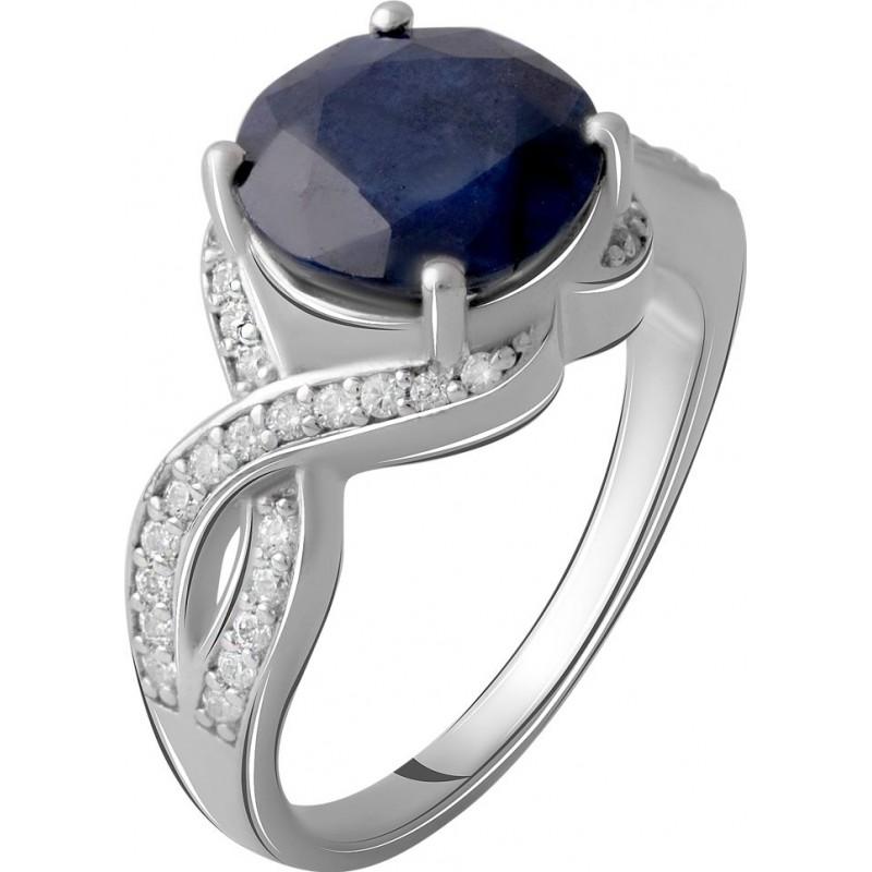 Серебряное кольцо SilverBreeze с натуральным сапфиром 4.998ct (2061045) 17 размер