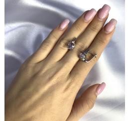 Серебряные серьги SilverBreeze с натуральным аметистом 3.45ct (2060581)