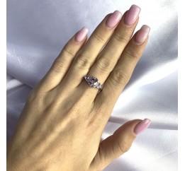 Серебряное кольцо SilverBreeze с натуральным аметистом 1.684ct (2060550) 18.5 размер