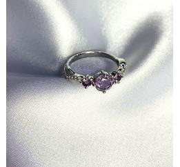 Серебряное кольцо SilverBreeze с натуральным аметистом 1.22ct (2060499) 17.5 размер