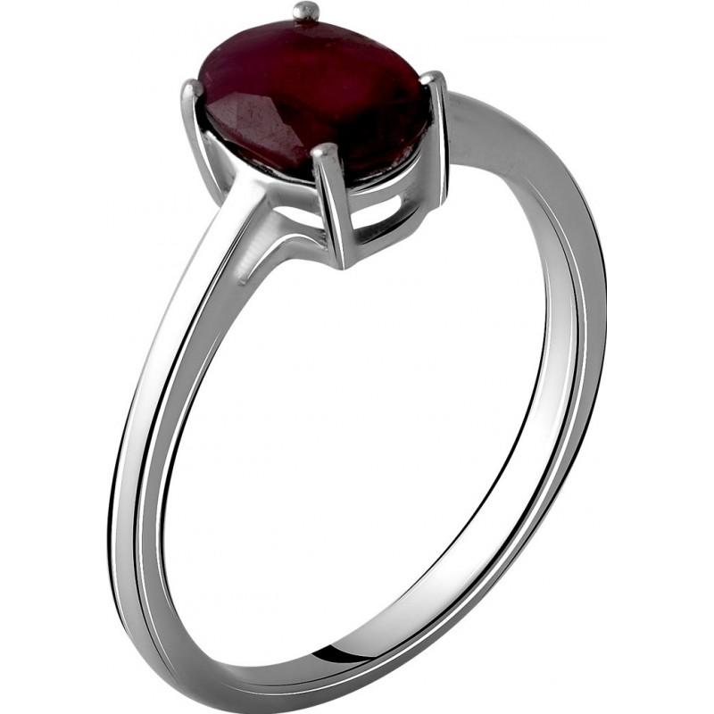 Серебряное кольцо SilverBreeze с натуральным рубином 1.756ct (2060178) 17.5 размер