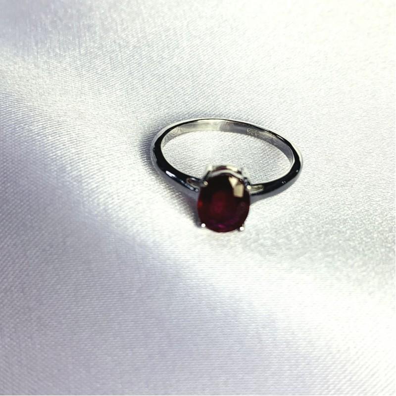 Серебряное кольцо SilverBreeze с натуральным рубином 1.756ct (2060178) 18.5 размер