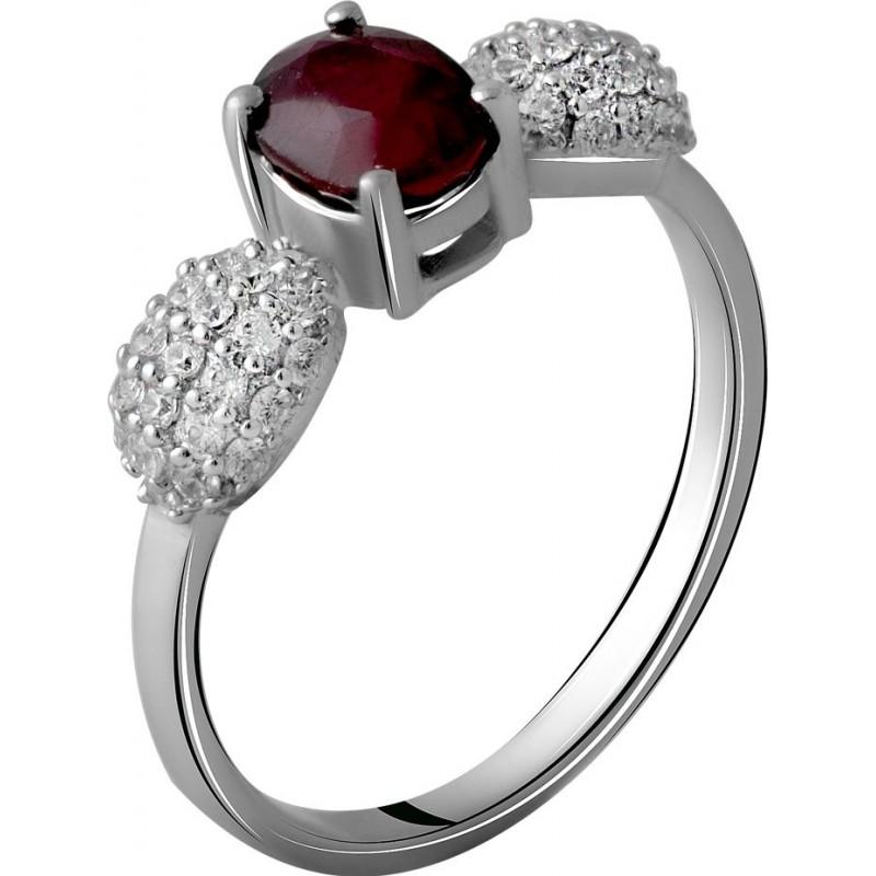 Серебряное кольцо SilverBreeze с натуральным рубином 1.865ct (2060154) 17.5 размер