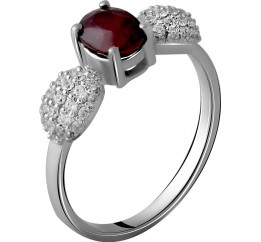 Серебряное кольцо SilverBreeze с натуральным рубином 1.865ct (2060154) 18 размер