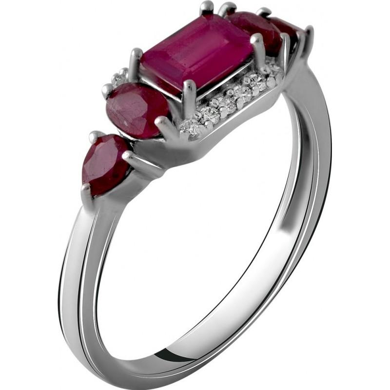 Серебряное кольцо SilverBreeze с натуральным рубином 1.78ct (2060130) 18.5 размер
